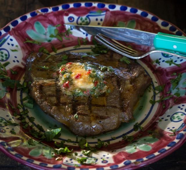 garlic and chilli steak butter