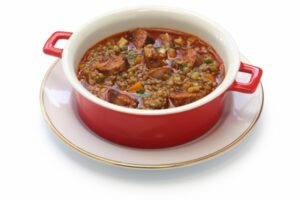 lentil and chorizo soup, spanish cuisine