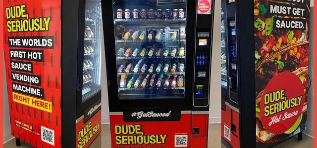 hot sauce vending machine